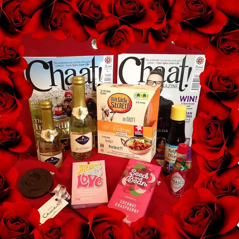 SMALL Valentines Hamper with roses